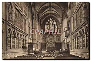 Carte Postale Ancienne Oxford Keble College Chapel