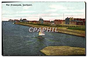 Carte Postale Ancienne The Promenade Southport