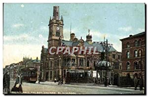 Carte Postale Ancienne Town Hall Talbot Square Blackpool