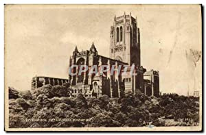 Carte Postale Ancienne Liverpool Cathedral From S E