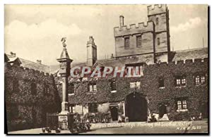 Carte Postale Ancienne Corpus Christi College showing old Sundial Oxford