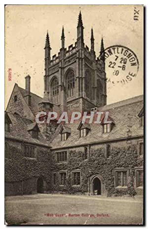 Carte Postale Ancienne Mob Quard Merten College Oxford