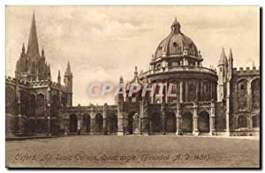 Carte Postale Ancienne Oxford All Souts College Quadrangle