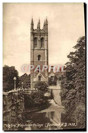 Carte Postale Ancienne Oxford Magdaten College