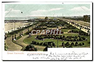 Carte Postale Ancienne Great Yarmouth South Beach Gardens