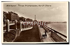 Carte Postale Ancienne Blackpool Three Promenades North Shore