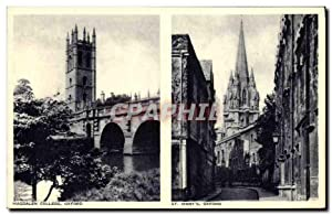 Carte Postale Ancienne Magdalen College Oxford St Mary's Oxford
