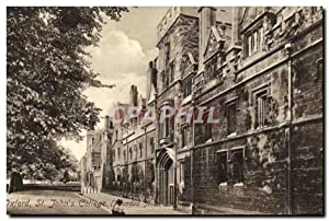 Carte Postale Ancienne Oxford St John's College
