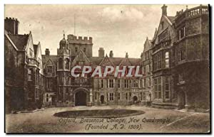 Carte Postale Ancienne Oxford Brasenose College New Quadrangle