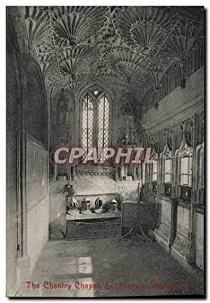 Carte Postale Ancienne The Chantry Chapel St Mary's Warwick