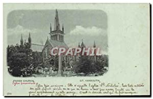 Carte Postale Ancienne Great Yarmouth Parish Church