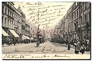 Carte Postale Ancienne Liverpool Lord Street