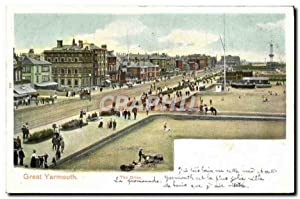 Carte Postale Ancienne Great Yarmouth The Drive