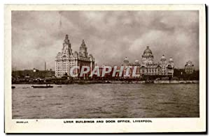 Carte Postale Ancienne Liver Buildings and Dock Office Liverpool