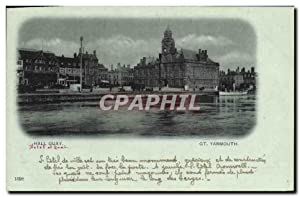 Carte Postale Ancienne Great Yarmouth Hall Quay
