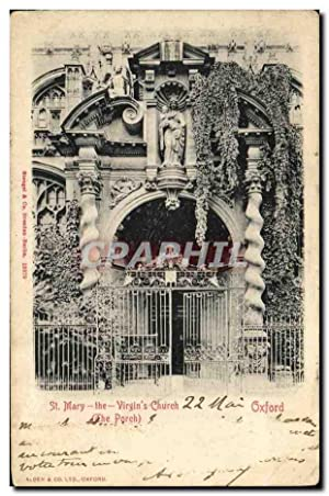 Carte Postale Ancienne St Mary the Virgin's Church Oxford