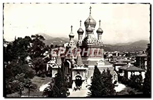 Carte Postale Ancienne Nice L'Eglise Russe Russie Russia