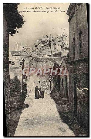 Carte Postale Ancienne les Baux Fours Banaux