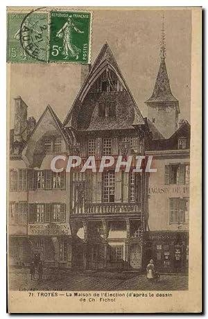 Carte Postale Ancienne Troyes La Maison de
