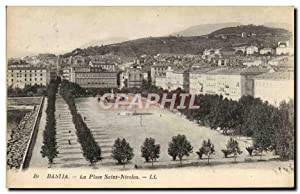 Carte Postale Ancienne Bastia La Place Saint Nicolas