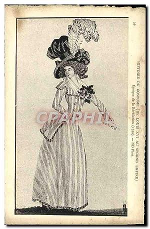 Carte Postale Ancienne Histore Du Costume Epoque