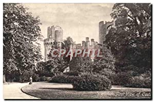 Carte Postale Ancienne Warwick First View Of Castle