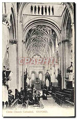 Carte Postale Ancienne Christ Church Cathedral Oxford