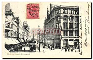 Carte Postale Ancienne Church Street Liverpool
