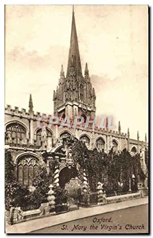 Carte Postale Ancienne Oxford St Mary The Virgin's Church