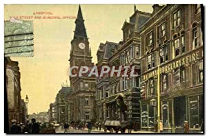 Carte Postale Ancienne Liverpool Dale Street And Municipal Offices