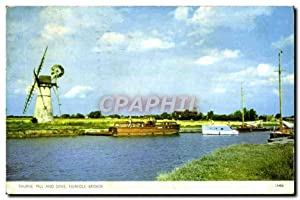 Carte Postale Moderne Thurne Mill And Dyke Norfolk Broads Moulin a vente