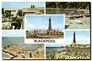 Carte Postale Moderne Blackpool The pleasure Beach Botaing lake Stanley park
