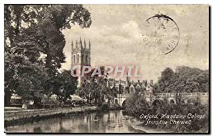 Carte Postale Ancienne Oxford Magdalen College From The Cherwell