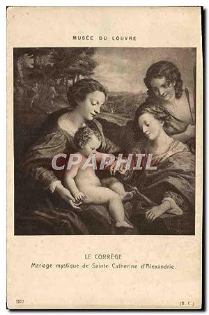 Carte Postale Ancienne Le Correge Mariage Mystique