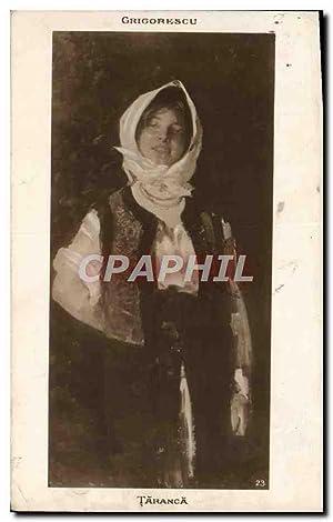 Carte Postale Ancienne Grigorescu Taranca Roumanie Folklore