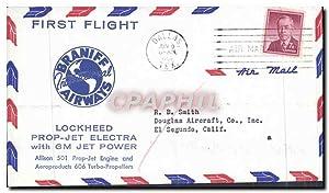 Lettre Etats Unis 1st Flight Lockheed Prop