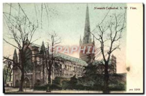 Carte Postale Ancienne Norwich Cathedral S W View