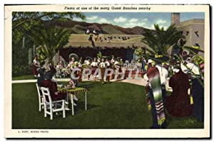 Carte Postale Ancienne Fiesta at one Of The Many Guest Ranches Nearby Southern Pacific Depot