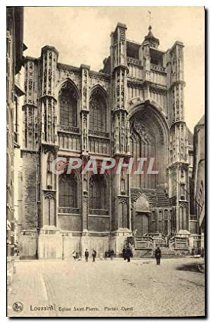 Carte Postale Ancienne Louvain Eglise Saint Pierre