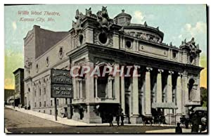 Carte Postale Ancienne Willis Wood théâtre Kansas City Mo The sultan of Sulu