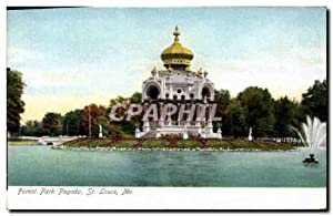 Carte Postale Ancienne Forest Park Pagoda St Louis