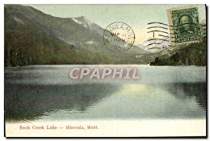 Carte Postale Ancienne Rock Creek lake Missoula Montana