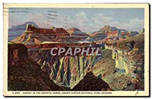 Carte Postale Ancienne Arizona Sunset in the Granite Gorge Grand Canyon National Park
