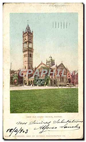 Carte Postale Ancienne New Old south Church Boston