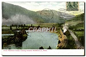 Carte Postale Ancienne From Marshall Grade Looking Towards Missoula Mont
