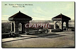 Carte Postale Ancienne Towers At Terrace On 10th Street Kansas City Mo