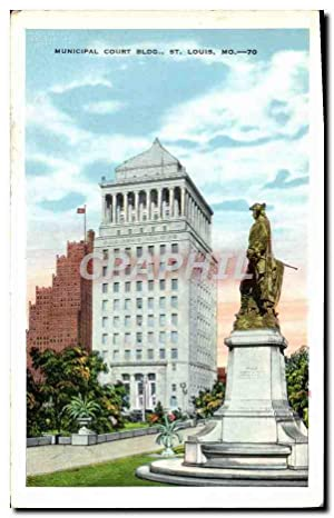 Carte Postale Ancienne Municipal Court Bldg St Louis