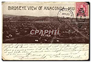 Carte Postale Ancienne Birdseye View of Anaconda