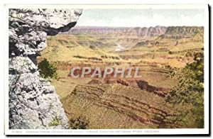 Carte Postale Ancienne Arizona Across From View point Grand Canyon National Park