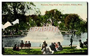 Carte Postale Ancienne Fountain Frog Pond The Common Boston Mass